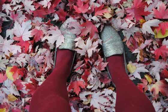{ sparkles and fall leaves in Portland }